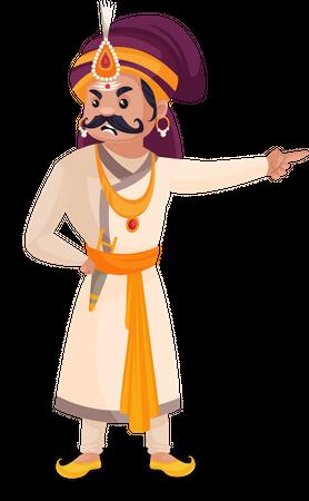 Angry Prithviraj Chauhan Illustration