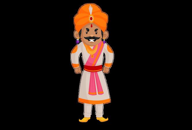Angry Samrat Ashok Illustration