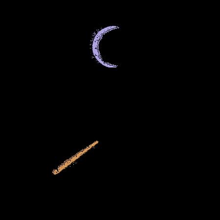 Angry Stick man Illustration