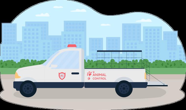 Animal control truck Illustration