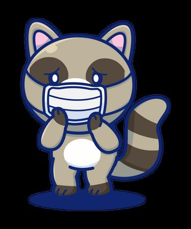 Animal Wearing face mask Illustration