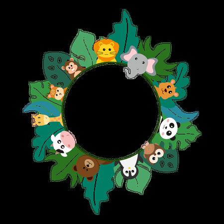 Animals pattern Illustration