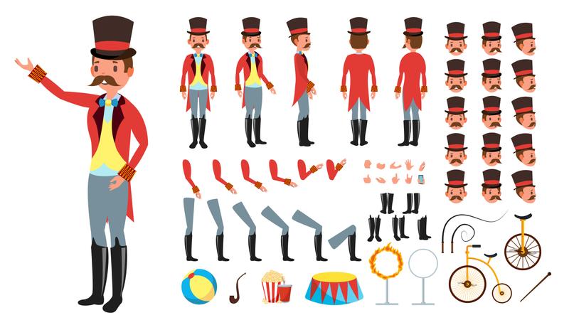 Animated Character Creation Set Illustration