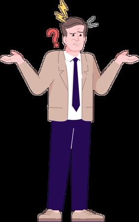 Annoyed man Illustration