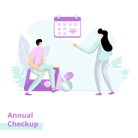 Annual Checkup Illustration