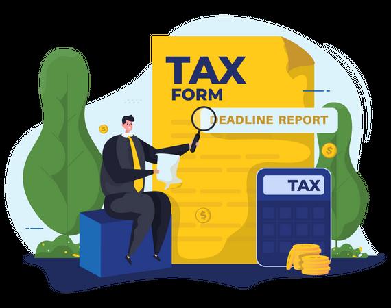 Annual Tax Deadline Illustration