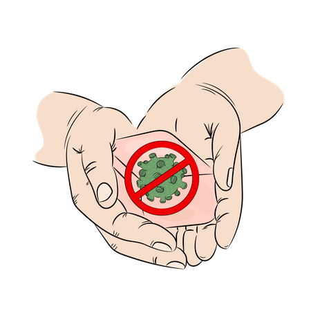 Antibacterial and clean hands Illustration