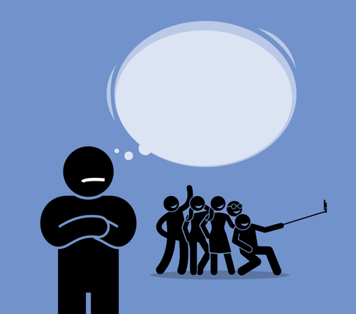Antisocial or Anti-Social Illustration