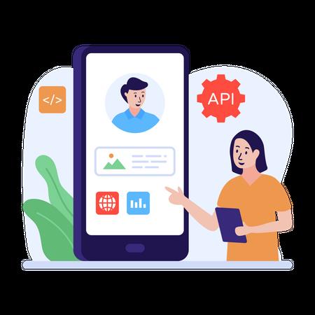 API interface design Illustration