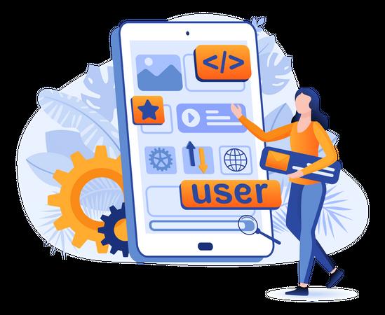 App Designing And Development Illustration
