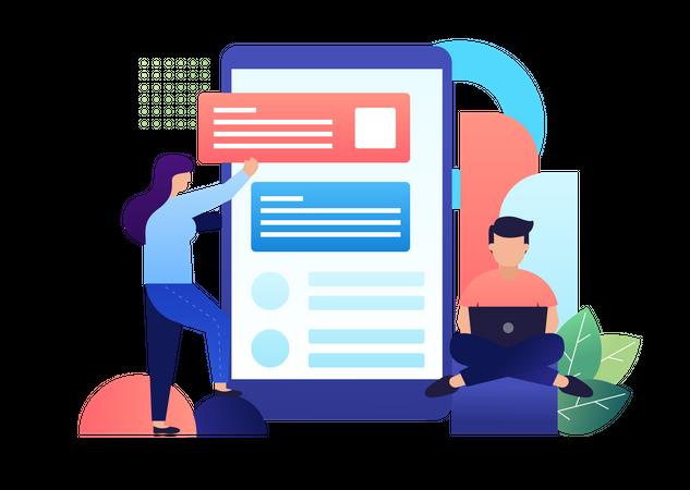 App Developer Illustration