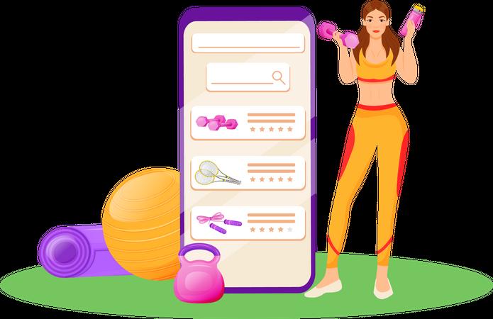 App for aerobics gear Illustration