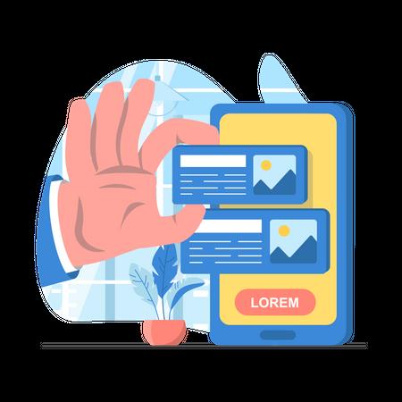App Layout Design Illustration
