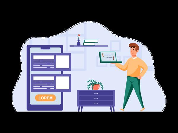App Programmer Illustration