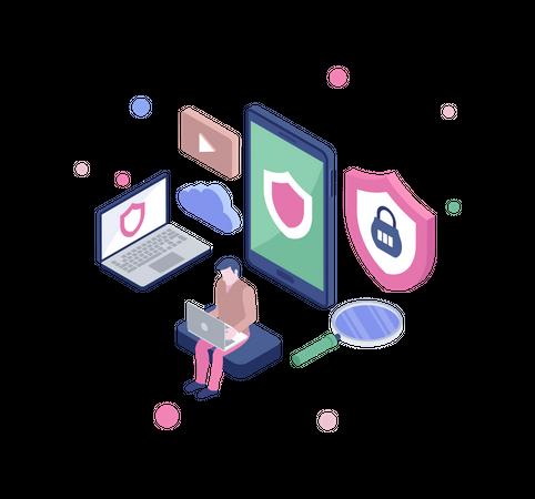 App security Illustration