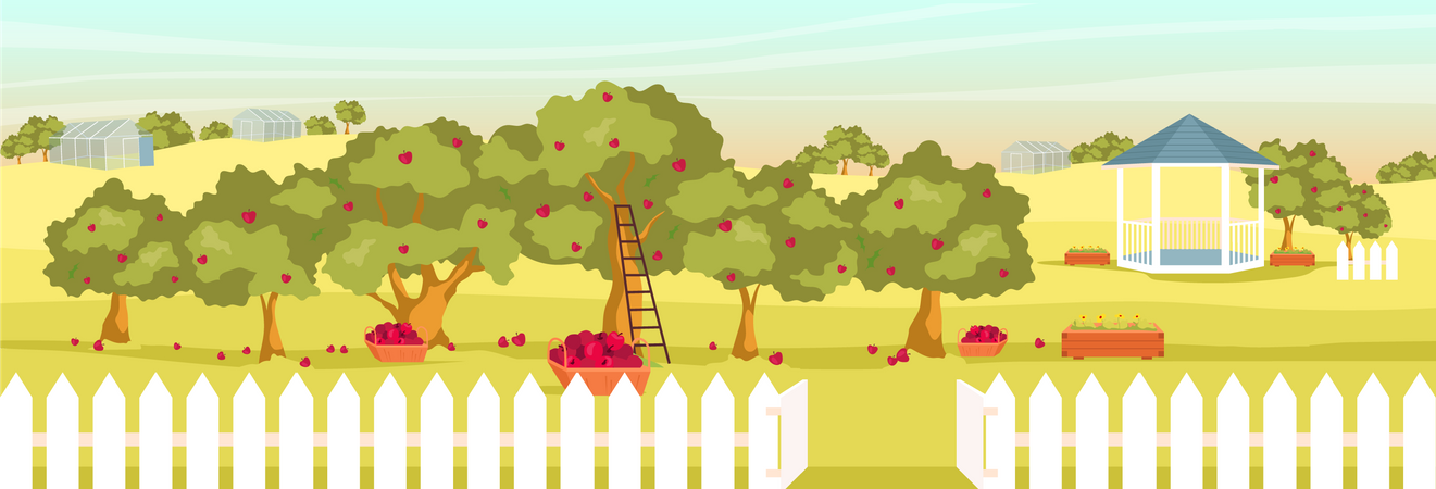 Apple garden Illustration