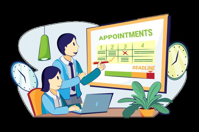 Appointment schedule management Illustration