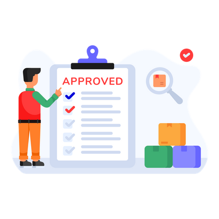 Approved Product Checklist Illustration