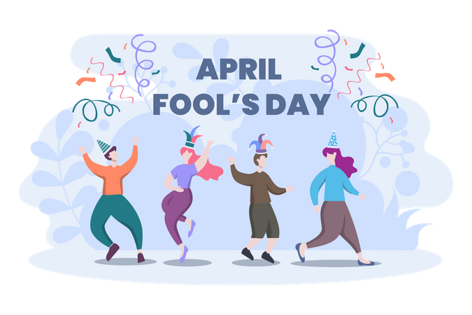 April Fool Day Illustration
