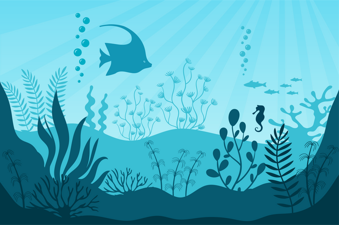 Aquarium life Illustration