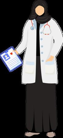 Arab female doctor Illustration