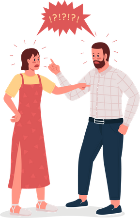 Arguing couple Illustration