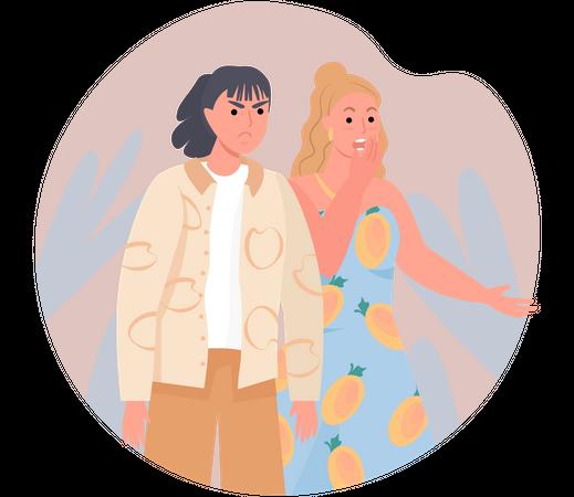 Arguing Women Illustration