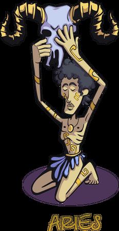 Aries zodiac sign Illustration