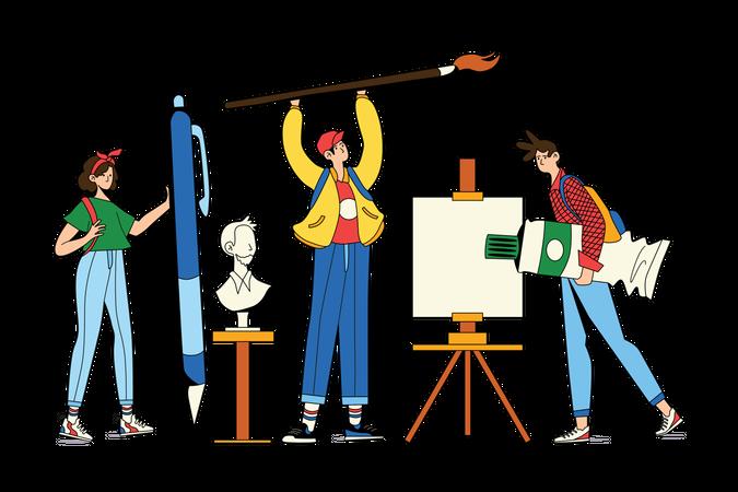 Art Class Illustration