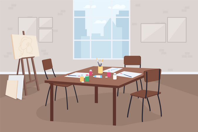 Art classroom Illustration