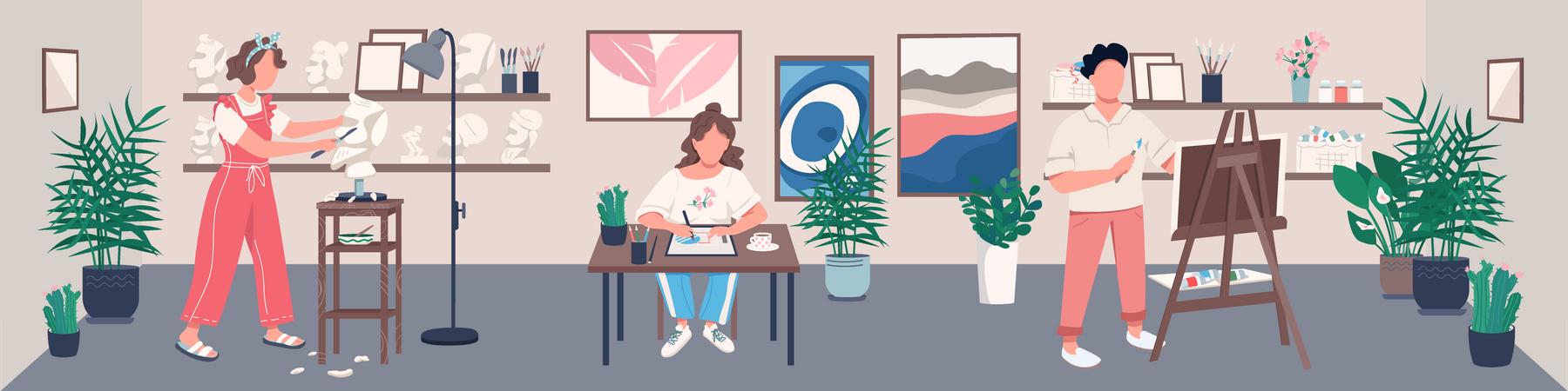 Art studio Illustration