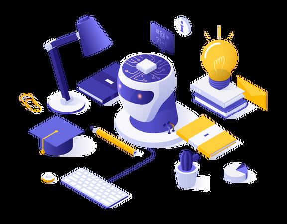 Artificial education Illustration