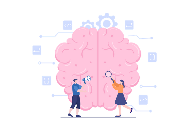 Artificial Intelligence Brain Technology Illustration