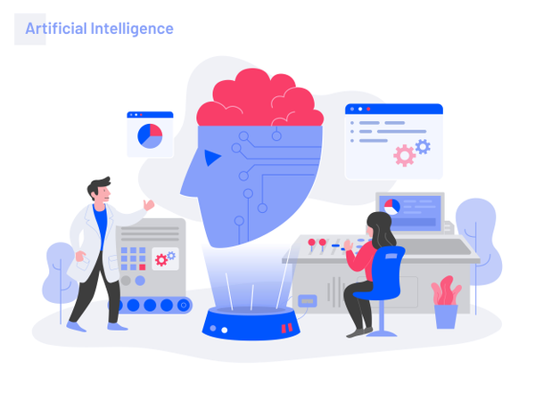 Artificial Intelligence Illustration Concept Illustration