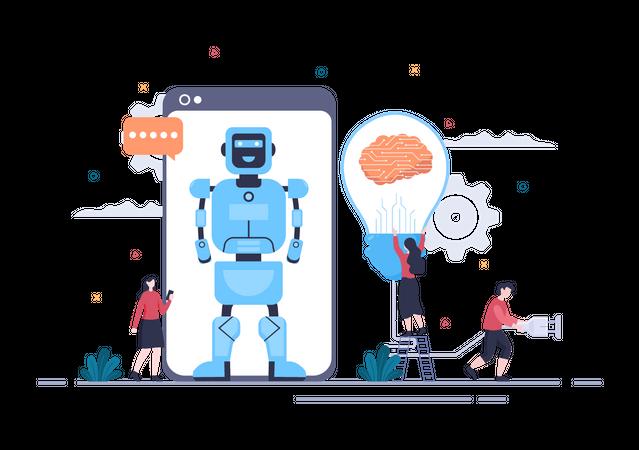 Artificial Intelligence Technology Illustration