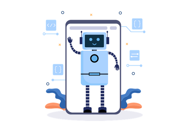 Artificial Robot Technology Illustration