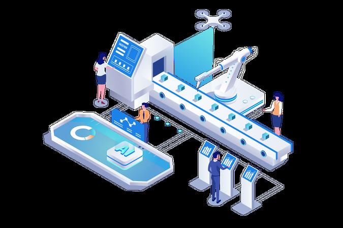 Artificial Tech Illustration