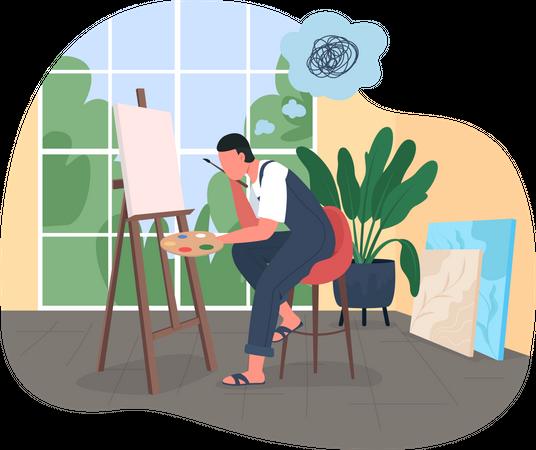 Artist burnout Illustration