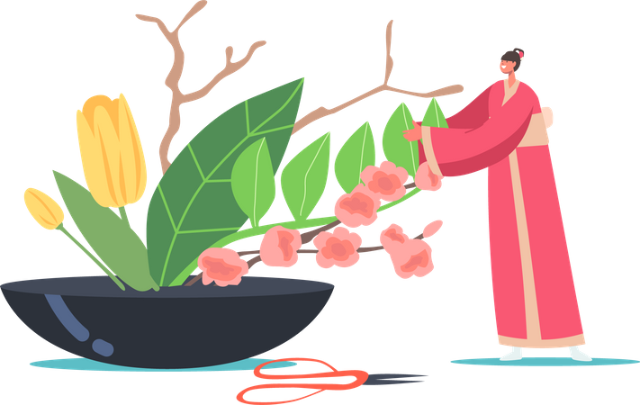 Asian Culture and Art Illustration