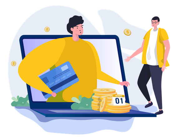Ask about salary payment Illustration
