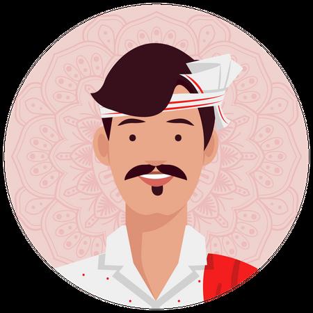 Assamee male Illustration