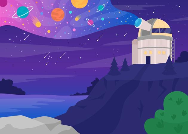 Astronomical observatory Illustration