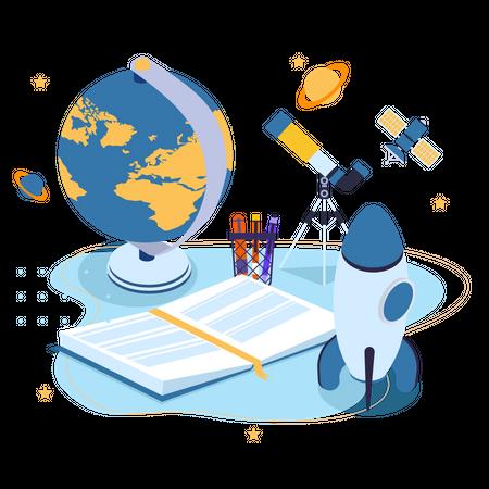 Astronomical Study Illustration