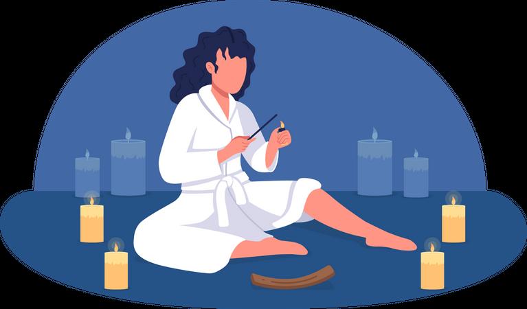 At home spa Illustration