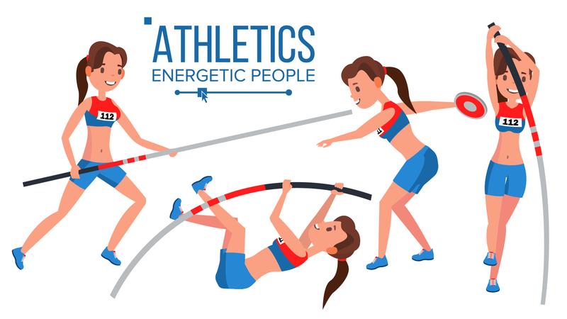 Athletics Female Player Illustration