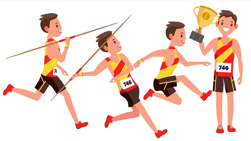 Athletics Male Player Illustration