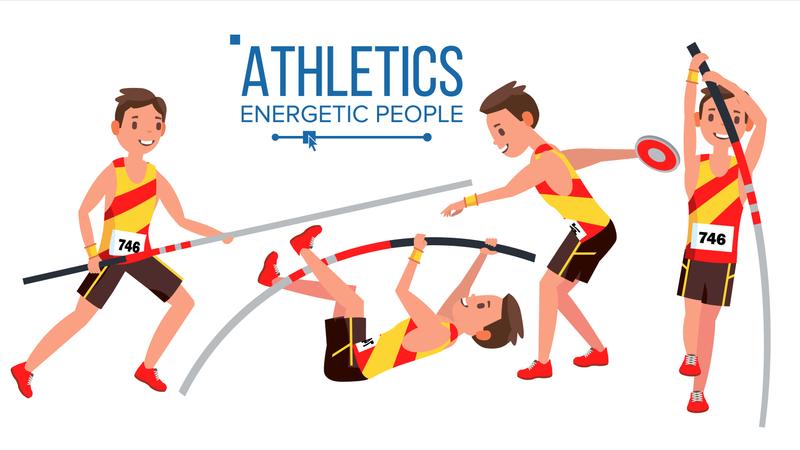 Athletics Player Illustration
