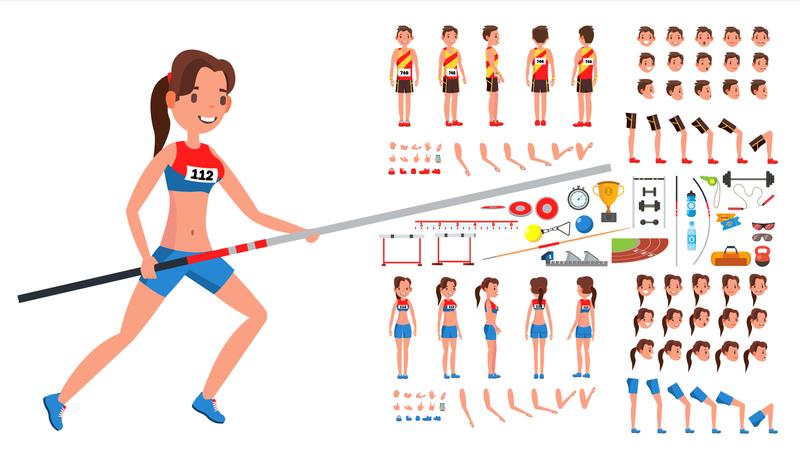 Athletics Player Male Illustration