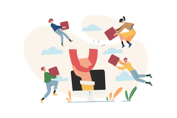 Attract customers Illustration