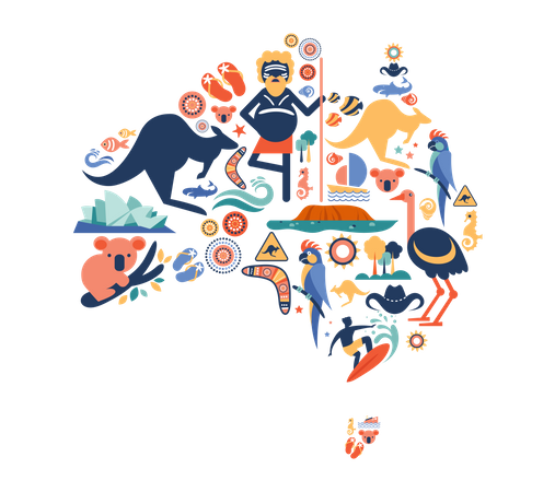 Australian culture Illustration